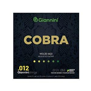 Encordoamento Violão Aço Giannini 0.12 Fósforo Bronze