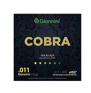 Encordoamento Violão Aço Giannini 0.11 Fósforo Bronze