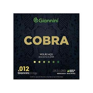 Encordoamento Violão Aço Giannini 0.12 Bronze 80/20