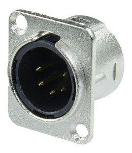 Conector Xlr Macho De Painel 5 Polos Hjh Hx 093