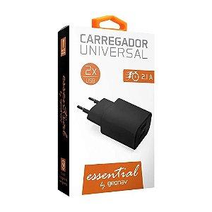 Carregador Universal Geonav Esacb 2 2 X USB Preto