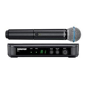 Microfone S/ Fio Shure Blx 24 Br Beta 58 Bastão
