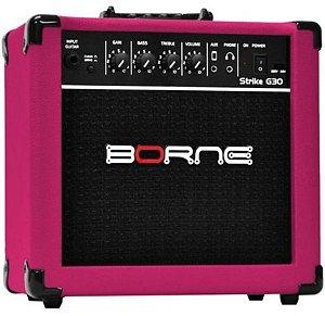 Amplificador Para Guitarra Borne Strike G 30 Rosa