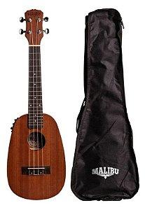 Ukulele Malibu Concert 23 S P E Abacaxi Sapele Elétrico Com Bag