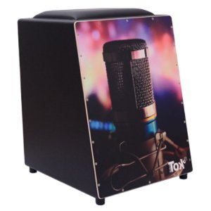 Cajon Nobre Tok Elétrico com Bongo Microfone 221