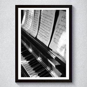 Quadro A4 Decorativo Personalizado - Piano
