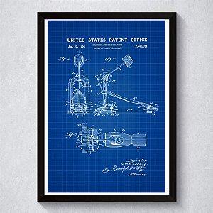 Quadro A4 Decorativo Personalizado - Patente de Pedal