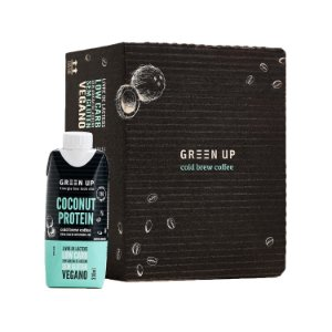 Coldbrew Coconut Protein 330ml Greenup Caixa com 12 Unidades