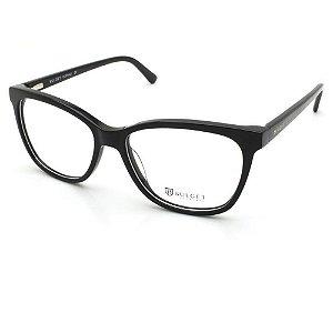 Óculos Armação Bulget BG6372N A01 Preto Acetato Feminino