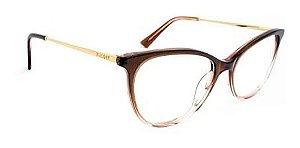 Óculos Armação Bulget Bg6364n G01 Marrom  Feminino