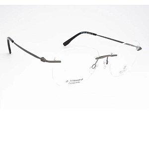 Óculos Armação Bulget BG1621TN 02A Cinza Fosco Masculino