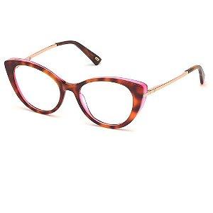 Óculos Armação Web WE5288 056 Marrom Tartaruga Acetato