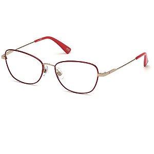 Óculos Armação Web WE5295 32A Vermelho Metal Feminino