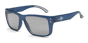 Óculos De Sol Mormaii Mumbai Azul Lente Espelhada  Cinza