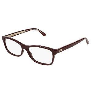 Óculos Armação Gucci GG0316O 003 Bordo Feminino