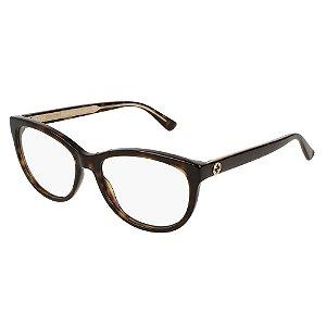 Óculos Armação Gucci GG0310O 002 Demi Mesclado Feminino