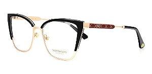 Óculos Armação Sabrina Sato Ss660 C2 Preto Com  Dourado