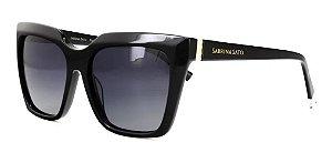 Óculos De Sol Sabrina Sato Ss632 C1 Preto Acetato  Feminino