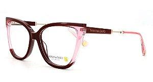 Óculos Armação Sabrina Sato Ss626 C3 Vinho Degrade  Feminino