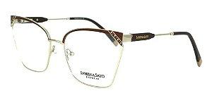 Óculos Armação Sabrina Sato Ss147 C2 Vermelho Metal Feminin