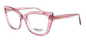 Óculos Armação Sabrina Sato Ss143 C4 Rosa  Translucido