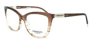 Óculos Armação Sabrina Sato Ss141 C3 Marrom  Translucido