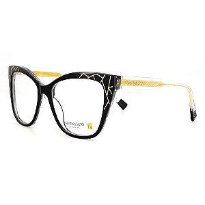 Óculos Armação Sabrina Sato SS629 C1 Preto com Dourado