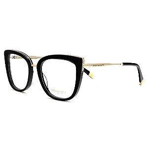 Óculos Armação Sabrina Sato SS623 C1 Preto Feminino Acetato