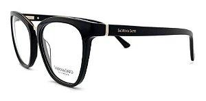Óculos Armação Sabrina Sato Ss127 C1 Preto Feminino Clip  On