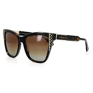 Óculos de Sol Sabrina Sato SS652 C2 Tartaruga com Dourado
