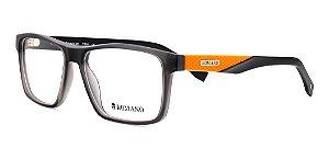 Óculos Armação Romano Ro1077 C2 Preto Fosco Com  Laranja