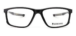 Óculos Armação Romano Ro1078 C1 Preto Fosco  Masculino