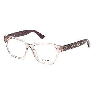 Óculos Armação Guess GU2823 057 Marrom Translucido Feminino
