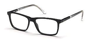 Óculos Armação Guess Gu1971 001 Preto Com Haste Transparent