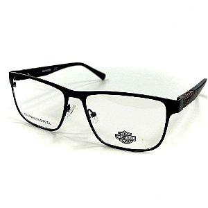 Óculos Armação Harley Davidson HD0863 002 Preto Metal