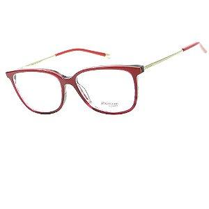 Óculos Armação Hickmann HI6048 C06 Vermelho Degrade Feminino