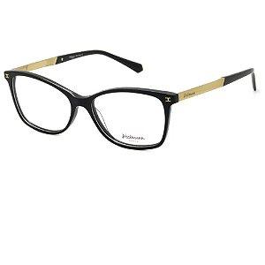 Óculos Armação Hickmann HI6014L A01 Preto com Dourado