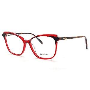 Óculos Armação Hickmann HI6127B H01 Vermelho Translucido