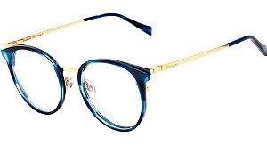 Óculos Armação Hickmann Hi1069b E02 Azul Mesclado Feminino