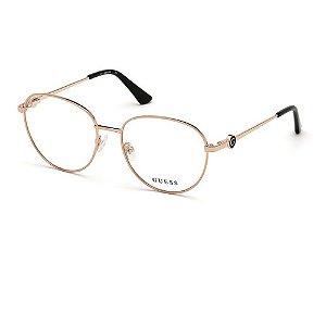 Óculos Armação Guess GU2756 028 Dourado Metal Feminino