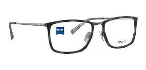Óculos Armação Zeiss Zs-40031 F029 Masculino Haste Titanium