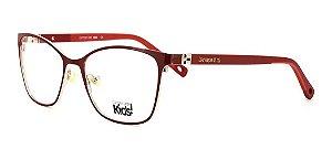 Óculos Armação Carmen Vitti Kids Cv2026 C1 Vinho Metal