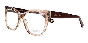Óculos Armação Carmen Vitti Cv0169 C3 Marrom Translucido