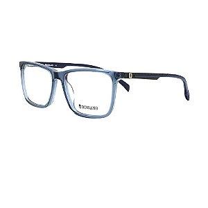 Óculos Armação Romano RO1067 C3 Azul Translucido Acetato