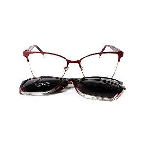 Óculos Armação Sabrina Sato SS681 C2 Vinho Metal Feminina
