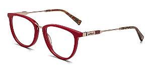 Óculos Armação Colcci C6110c3051 Bordo Feminino Gold Fosco