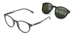 Óculos De Grau Mormaii Swap 2 M6071dh951 Cinza + Clip-on