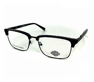 Óculos Armação Harley Davidson Hd0862 002 Cinza Masculino