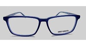 Óculos Armação Harley Davidson Hd868 091 Acetato Azul Escuro