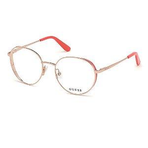 Óculos Armação Guess GU2700 028 Dourada Metal Feminino